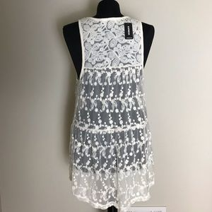Express Tops - Express Ivory Lace Tunic NWT